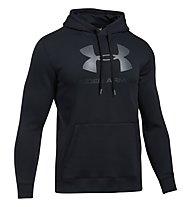 Under Armour UA Rival Fleece Fitted Graphic - Kapuzenpullover - Herren, Black
