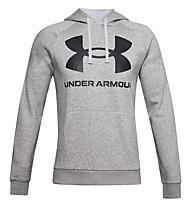 Under Armour Rival Fleece Big Logo Hoodie - felpa con cappuccio - uomo, Light Grey/Black