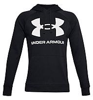 Under Armour Rival Fleece Big Logo Hoodie - felpa con cappuccio - uomo, Black