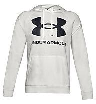 Under Armour Rival Fleece Big Logo Hoodie - felpa con cappuccio - uomo, White/Black