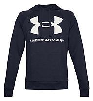 Under Armour Rival Fleece Big Logo Hoodie - felpa con cappuccio - uomo, Dark Blue