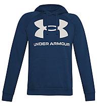 Under Armour Rival Fleece Big Logo Hoodie - Kapuzenpullover - Herren, Blue/White