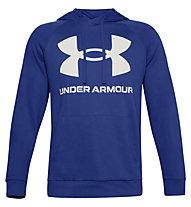 Under Armour Rival Fleece Big Logo Hoodie - Kapuzenpullover - Herren, Light Blue/White