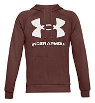 Under Armour Rival Fleece Big Logo Hoodie - Kapuzenpullover - Herren, Dark Red/White