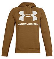 Under Armour Rival Fleece Big Logo Hoodie - felpa con cappuccio - uomo, Dark Yellow