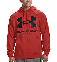 Under Armour Rival Fleece Big Logo Hoodie - felpa con cappuccio - uomo, Light Red/Black