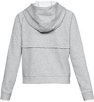 Under Armour Rival Fleece FZ Hoodie - felpa con zip - donna, Grey