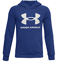 Under Armour Rival Fleece Hoodie - Kapuzenpullover - Kinder, Light Blue/White