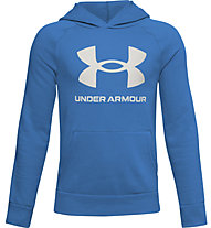Under Armour Rival Fleece Hoodie - Kapuzenpullover - Kinder, Azure/White