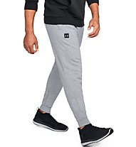 Under Armour Rival Fleece Jogger - pantaloni fitness - uomo, Grey