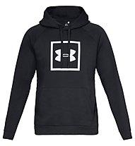 Under Armour Rival Fleece Logo - felpa con cappuccio fitness - uomo, Black