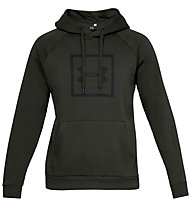 Under Armour Rival Fleece Logo - felpa con cappuccio fitness - uomo, Dark Green