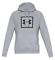 Under Armour Rival Fleece Logo - felpa con cappuccio fitness - uomo, Light Grey