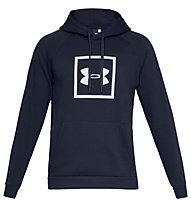 Under Armour Rival Fleece Logo - felpa con cappuccio fitness - uomo, Dark Blue