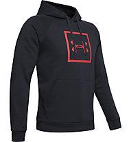 Under Armour Rival Fleece Logo - felpa con cappuccio fitness - uomo, Black/Red