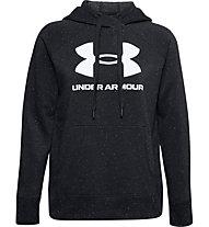 Under Armour Rival Fleece Logo Hoodie - Kapuzenpullover - Damen, Black/White