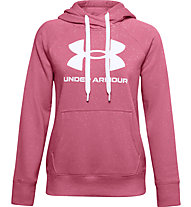 Under Armour Rival Fleece Logo Hoodie - Kapuzenpullover - Damen, Dark Pink/White