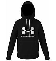 Under Armour Rival Fleece Logo Hoodie - Kapuzenpullover - Damen, Black/Grey