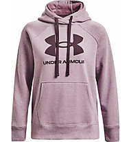 Under Armour Rival Fleece Logo Hoodie - Kapuzenpullover - Damen, Pink/Dark Red