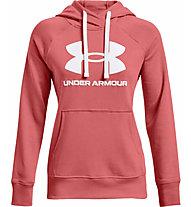 Under Armour Rival Fleece Logo Hoodie - Kapuzenpullover - Damen, Light Red/White