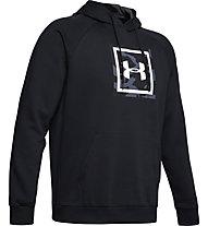 Under Armour Rival Fleece Printed Hoodie - felpa con cappuccio - uomo, Black