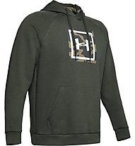 Under Armour Rival Fleece Printed Hoodie - felpa con cappuccio - uomo, Green