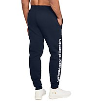 Under Armour Rival Fleece Script Jogger - Trainingshose - Herren, Dark Blue