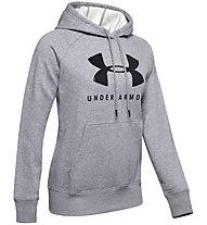 Under Armour Rival Fleece Sportstyle Graphic - Kapuzenpullover - Damen, Grey