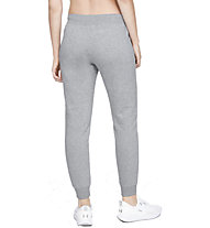 Under Armour Rival Fleece Sportstyle Graphic - pantaloni fitness - donna, Grey