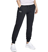 Under Armour Rival Fleece Sportstyle Graphic - pantaloni fitness - donna, Black