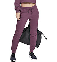 Under Armour Rival Fleece Sportstyle Graphic - pantaloni fitness - donna, Violet
