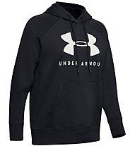 Under Armour Rival Fleece Sportstyle Graphic - felpa con cappuccio - donna, Black