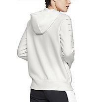 Under Armour Rival Fleece Sportstyle LC Sleeve Graphic Full Zip - Kapuzenjacke - Damen, White