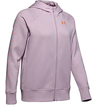 Under Armour Rival Fleece Sportstyle LC Graphic Full Zip - giacca con cappuccio - donna, Pink