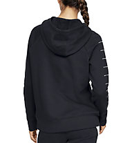 Under Armour Rival Fleece Sportstyle LC Graphic Full Zip - giacca con cappuccio - donna, Black