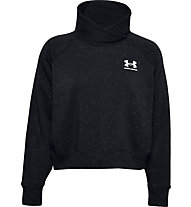 Under Armour Rival Fleece Wrap Neck - Pullover - Damen, Black