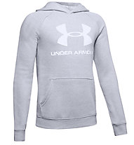 Under Armour Rival Logo - Kapuzenpullover - Kinder, Light Grey