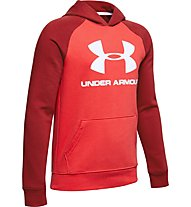 Under Armour Rival Logo - Kapuzenpullover - Kinder, Red
