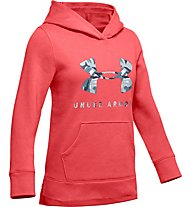 Under Armour Rival Logo - felpa con cappuccio - ragazza, Orange