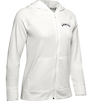 Under Armour Rival Terry Fz Hoodie - Trainingsjacke - Damen, White