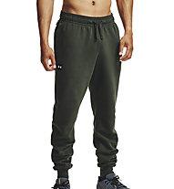 Under Armour Rivel Fleece Jogger - Trainingshose - Herren, Dark Green