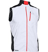 Under Armour Run Windstopper gilet running, White/Black