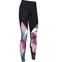 Under Armour RUSH™ Print - pantaloni fitness - donna, Black/Purple/Light Blue