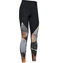 Under Armour RUSH™ Print - pantaloni fitness - donna, Black/Grey/Orange