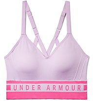 Under Armour Seamless Longline Bra - Sport BH leichter Halt - Damen, Light Violet