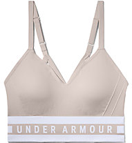 Under Armour Seamless Longline Bra - Sport BH leichter Halt - Damen, Pink