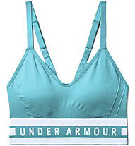 Under Armour Seamless Longline Bra - Sport BH leichter Halt - Damen, Azure
