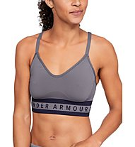 Under Armour Seamless Longline Bra - Sport BH leichter Halt - Damen, Dark Grey