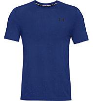 Under Armour Seamless SS - T-shirt - Herren, Light Blue/Black