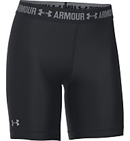 Under Armour Short UA HeatGear Armour Long - kurze Fitnesshose Damen, Black